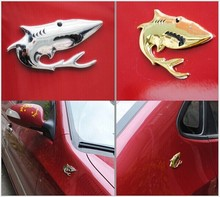 3D sharks matel Car Sticker high Quality car body Decal sticker Styling Free Shipping