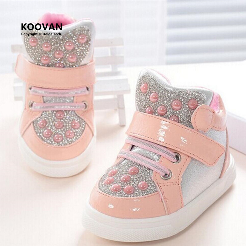 Koovan Children Sneakers 2017 New Kids Children's Shoes Girls Boys Baby Shoes Rhinestone Sequins Sneakers Sports Shoes Toddler(China)