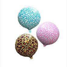18 inch Safari Animal Print Leopard Spots Foil balloons,self sealing Helium balloon,kid's toy Globos.(China)