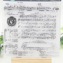 1 sheet DIY Musical Transparent Clear Rubber Stamp Seal Paper Craft Scrapbooking Decoration(China)