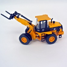 jing bang 1:60 Alloy wheel excavator forklift truck mixer loading car city children toy truck model(China)