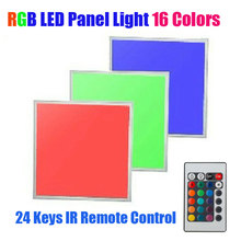 RGB LED Panel Light Ultra Slim panels lights with remote control for wedding party decorations panels lights lamps AC 100-265V(China)