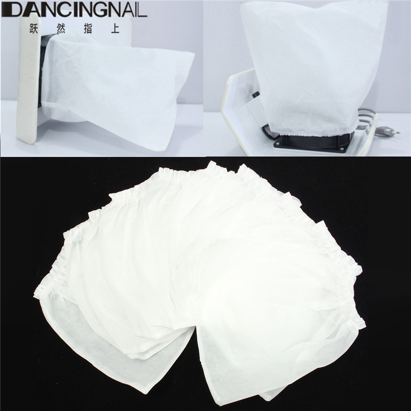 10Pcs White Non-woven Replacement Bags For Nail Art Dust Suction Collector High Quality Nails Arts Salon Tools New(China)
