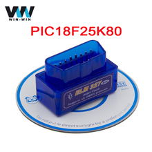 Super Mini ELM327 V1.5 Bluetooth Scanner ELM 327 V1.5 With PIC18F25K80 OBD2 Scanner Support J1850 Protocols(China)