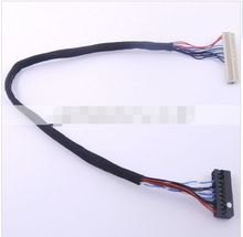10pcs FIX-S6 30pin LVDS Cable for LCD Controller Panel Single 6 bits Interface Wire new(China)