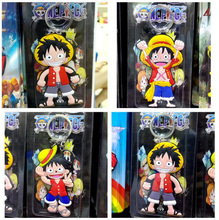 1Pcs/set Cool Anime Cartoon Cute Kawaii One Piece Luffy keychain Action Figure Toys double-sided Silicone PVC keychain