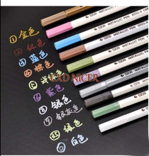 10 pcs/lot Metal Color Markers For Drawing Photo Graffiti DIY Album Color Marker Paint Pen School Chancery Pens(China)