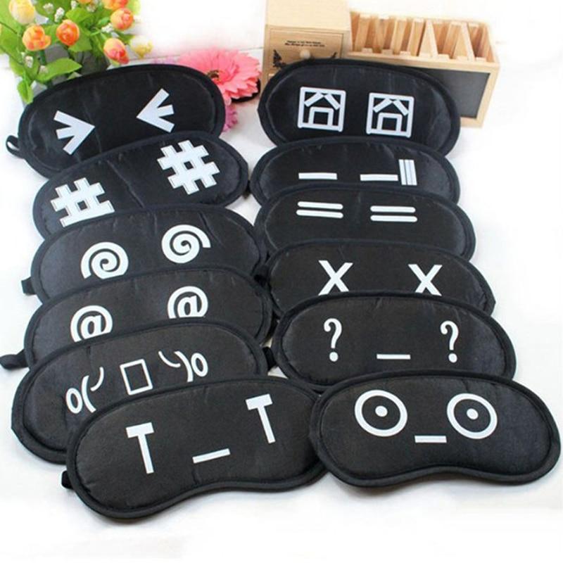 Portable Travel Eye Shade Eyes Cover Funny Expression Sleep Eye Mask Sleep & Snoring Health Care