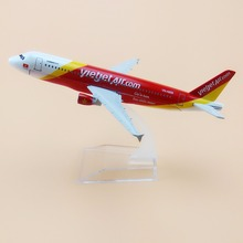 16cm Alloy Metal AIR Vietnam VietJet Airlines Airbus 320 A320 Airways Airplane Model Plane Model W Stand Aircraft Gift(China)