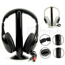 Hot Sale 5 in 1 Hi-Fi Wireless Headset Portable Headphone Video Game Earphone For TV DVD MP3 PC High Quality