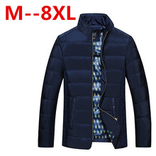 Plus size 8XL 7XL 6XL 5XL 4XL Men's Down Jacket Parka Winter Long Sleeve Thicken Warm Men Down Coat Hooded Mens Clothes