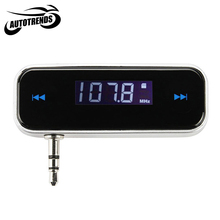 Wireless FM Transmitter 3.5mm Jack Digital LCD Display Car Transmitters for iPod iPhone 3G 3GS 4S MP3 MP4 Player