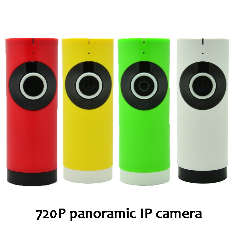 (1 pcs)180 degree HD 720P Panoramic wifi IP Camera Night Version LED support IOS Andorid APP control Fish Eye Wireless CCTV<br>