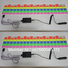 70*16cm sound active el car panel LED equalizer panel Car el equalizer sticker Multi-color free shipping