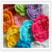 2016 new arrival 5.5cm 12 pic/lot handmade natural cotton crochet lace flower as artificial daisy for decoration with multi colo