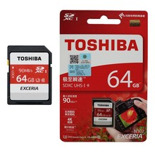 High speed TOSHIBA SD card Class10 16gb 32gb 64gb 128GB 90Mb/s Original TF card memory card flash real capacity stick for camera(China)