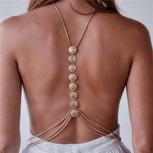 Hot Charming Tassel Body Chain Carving Flower Crossover Sexy Bikini Beach Harness Necklace Ethnic Belt Boho Body Jewelry