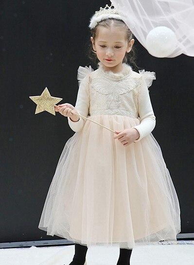 Girls winter dresses plus velvet warmth warmth in the princess children s fairy dress<br>
