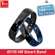 Buy Smart Band ID115 HR Bluetooth Wristband Heart Rate Monitor Fitness Tracker Pedometer Bracelet Phone pk FitBits mi 2 Fit Bit for $14.50 in AliExpress store