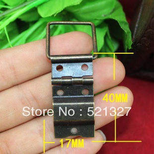 Packing box accessories hinge connecting wire wooden wine box hardware trumpet even wire hinge 17 * 40MM(China (Mainland))