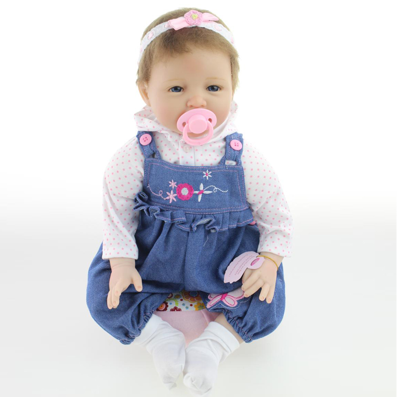 UCanaan 50-55cm Silicone Vinyl Reborn Baby Dolls Smiling Handmade Baby Doll Reborn Alive Toys Best Soft Body Birthday Gift Toy<br><br>Aliexpress