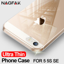 NAGFAK Soft TPU Transparent Ultra Thin Case For iPhone 5S SE 5 Shell Silicone Cover Capa Cases For iPhone 5 5S SE Phone case