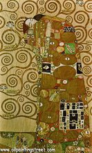 Oil Painting reproduction on Linen Canvas, Fulfilment, by gustav klimt,100% handmade, Fast Free Shipping,Museam Quality