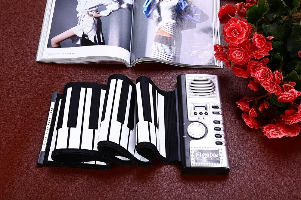 61 Key Keyboard Piano Flexible Roll Up Piano Preliminary Electronic Tool (5)