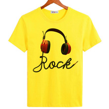 BGtomato super cool love music earphone t shirts men's original brand new fashion summer shirts good quality casual soft tops