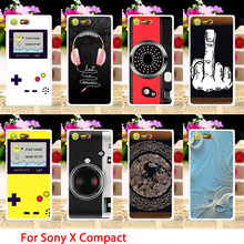 AKABEILA Soft TPU Phone Cases For Sony Xperia X Compact X Mini F5321 PS30 XC Cool Camera Hard Back Covers Sheath Skin Shield(China)