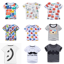 2017 Hot Fashion Brand Boys T-shirt Kids Tops Tee Designer Toddler Baby Boys T Shirts Cotton Short Sleeve Children Tops Tee