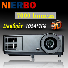 NEW 7000 lumens Projector 1080P Full HD 3D DLP Perfect for Education Business Meeting Daytime Video Proyector Beamer 203W lamp