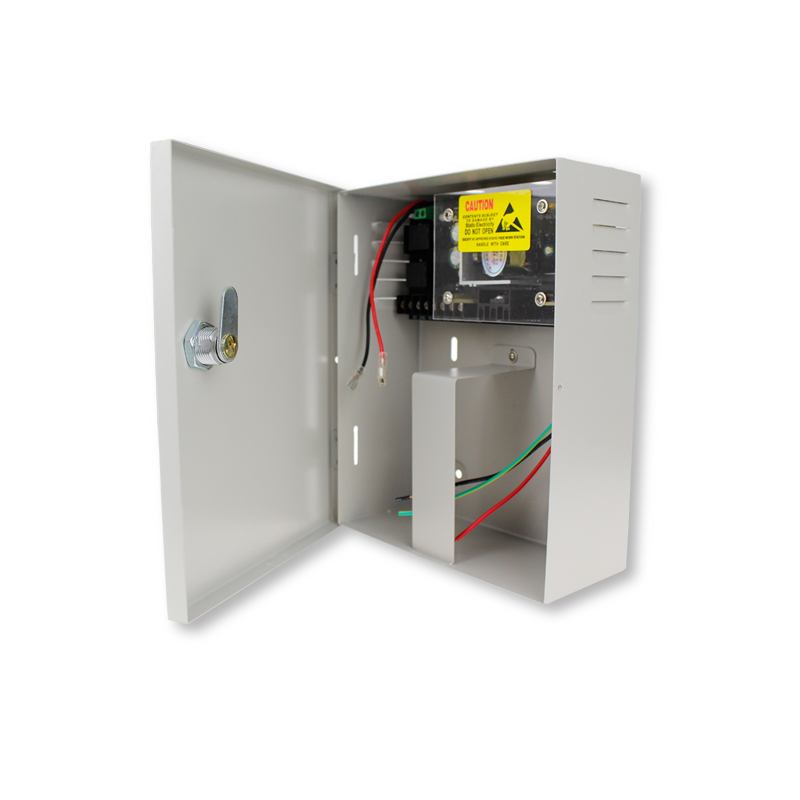 AC90V/260V 5A Access Control Power Supply Box DC12V UPS Backup Battery for All Kinds of Electric Door Lock with Time Delay<br>
