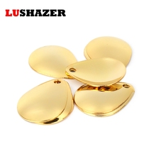 20pcs/lot LUSHAZER ccessories for fishing lure spoon noise spoon lure 1.2cm-1.5cm Fishing Accessories DIY spoon lure