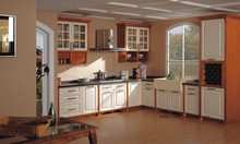 solid wood painting kitchen cabinet(LH-SW083)(China)