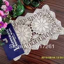 Free shipping handmade crochet hook Beige square fashion coffee table mat cutout pad place mat doilies coaster cotton mat felt(China)