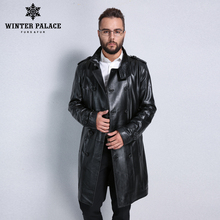 Best Seller leather jacket,Genuine Leather,Mandarin Collar,Sheepskin,Coat male,Leather jacket men,mens leather jackets and coats(China)