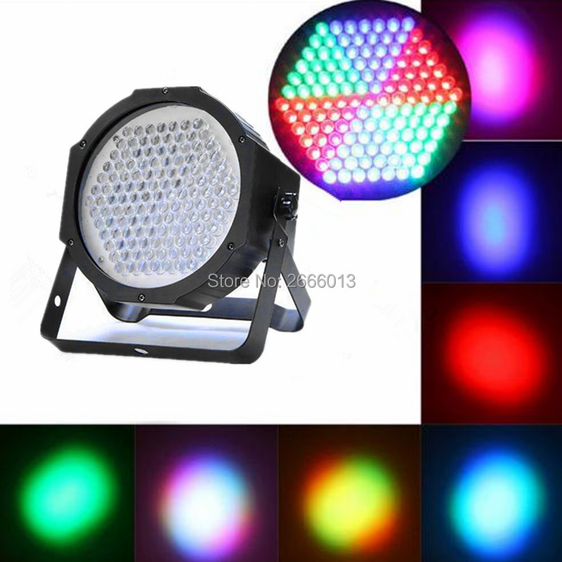 127 Up-Lighting - Full RGB Color Mixing LED Flat Par Can Sound Activated Mixing Color Wash Stage Lighting for Disco DJ KTV party<br>
