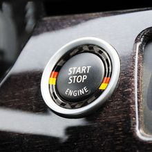 Buy BMW E90 E92 E93 Carbon Fiber Car Engine Start Stop Ring Trim M Sport Car Ignition Key Ring 3 Series Car Accessories for $1.08 in AliExpress store