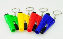 by dhl 200pcs practical Pocket Auto Emergency Escape Rescue Tool Glass Window Breaking Safety Hammer with Keychain(China)