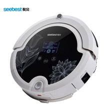 Robot Vacuum Cleaner with Rolling Brush, Intelligent Anti Fall Vacuum Cleaner LCD Screen, Seebest C571, Russia Warehouse
