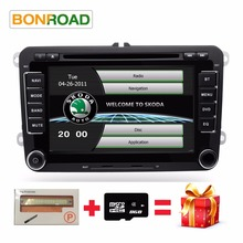 "2Din 7"" Car DVD Player for Passat/POLO/GOLF/Skoda/Seat/Leon With Mirrorlink Radio FM GPS Navigation DVR Support Free Map(China)"
