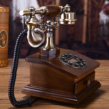 Fashion antique solid wood telephone vintage home landline telephone/Blue Backlight/Hands Free/Caller ID(China)