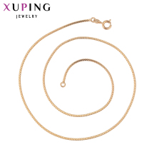 11.11 Deals Xuping Fashion Necklace New Design Long Necklace Gold Color Plated Necklace Women Chain Jewelry Top Sale Gift 42609(China)