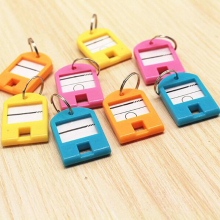 Novelty 50Pcs/Lot Multicolour Key Card Classification Tag Keychain Key Chain Ring Hotel Number Label Accessories unique gift(China)