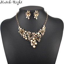 Match-Right Women Necklace Simulated Pearl Statement Necklaces Pendants Trendy Jewelry Necklace Women Accessories KK029(China)