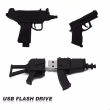 100% full usb flash drive Black Machine gun pen drive usb 2.0 flash drive U Disk pen drive 4GB 8GB 16GB 32GB memory stick