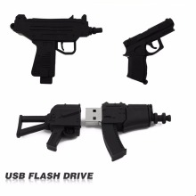 100% full usb flash drive Black Machine gun pen drive usb 2.0 flash drive U Disk pen drive 4GB 8GB 16GB 32GB memory stick(China)