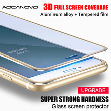 Buy 3D Full cover aluminum alloy tempered glass iPhone 6 6s 7 plus 5 5S SE tempered glass iPhone 8 7 6 screen protector film for $1.28 in AliExpress store