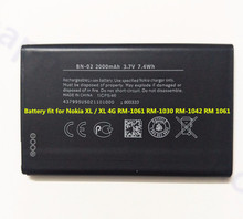 AZK Replacement BN-02 BN 02 BN02 Battery for Nokia XL / XL 4G RM-1061 RM-1030 RM-1042 RM 1061 Rechargeable Backup Phone Bateria